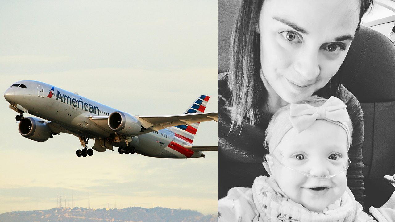 Florida mom flying American Airlines with baby to hospital thanks kind stranger who offered his first-class seat