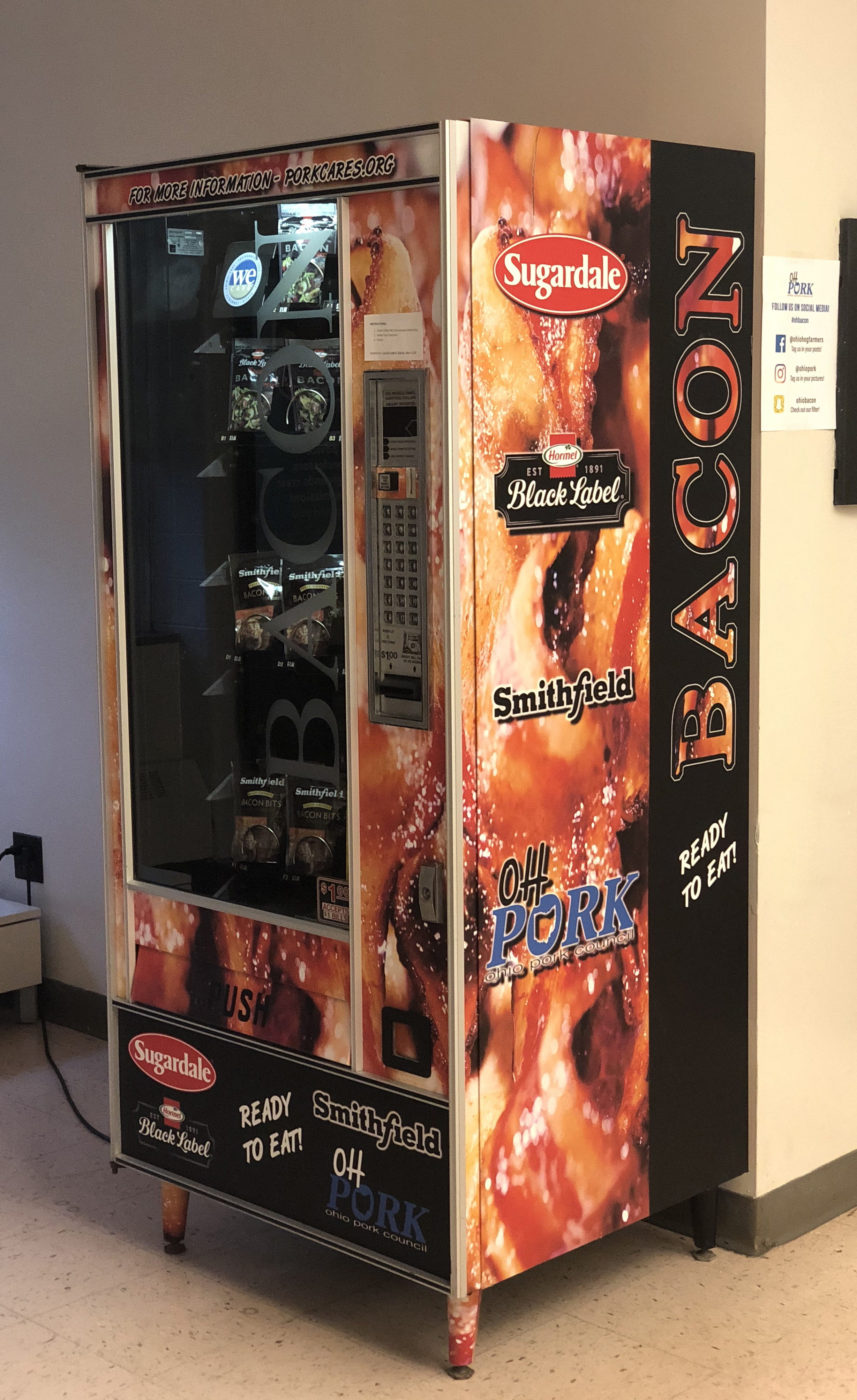 Ohio State gets bacon vending machine on campus