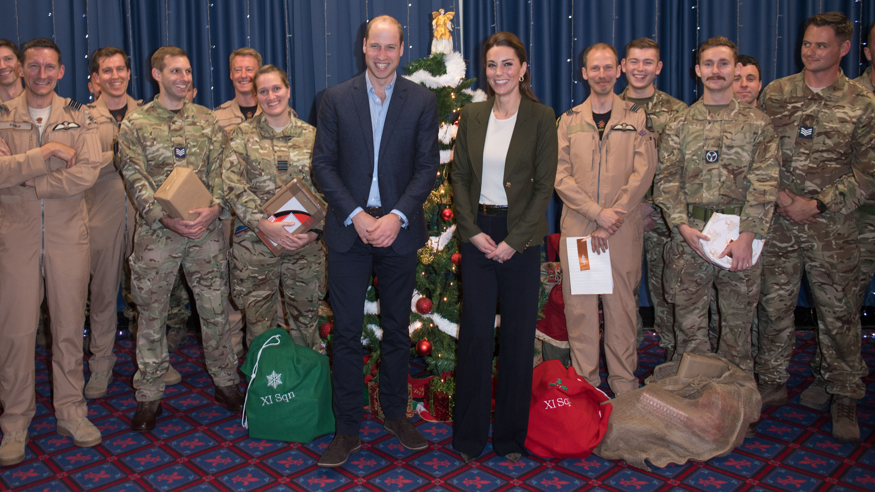 Prince William says Kate Middleton looks like a Christmas tree