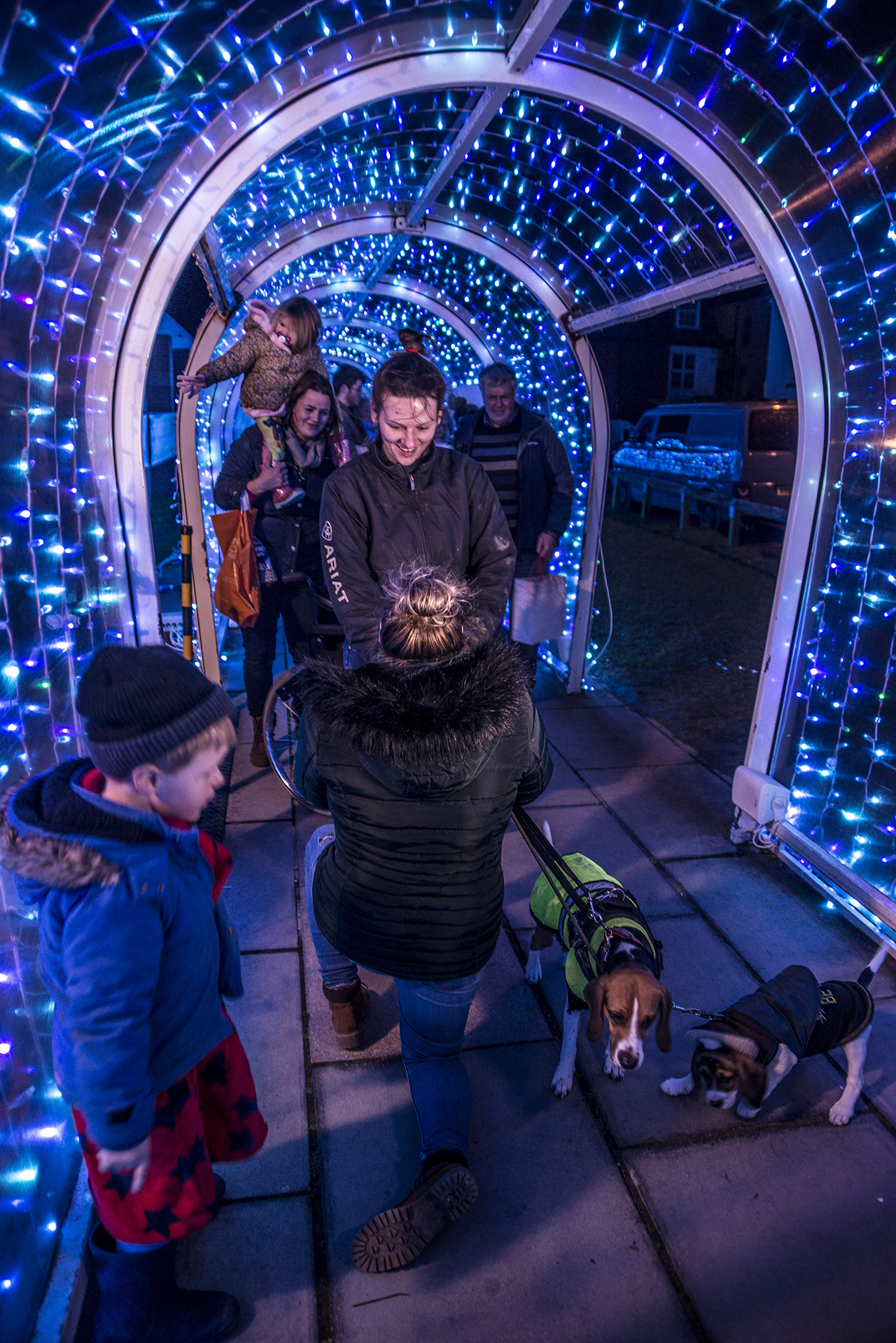 Woman proposes to partner in England's now-famous plastic supermarket tunnel