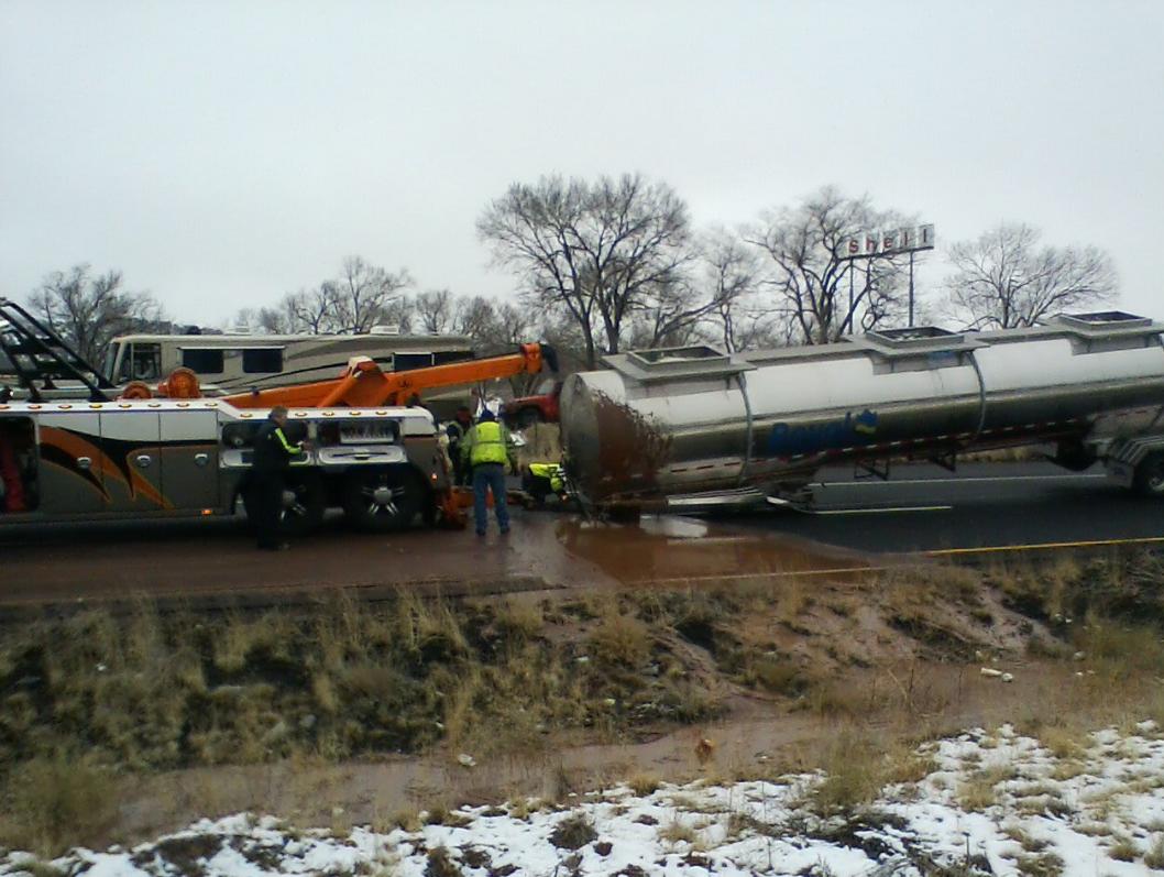 Truck spills 3,500 gallons of chocolate across Arizona highway