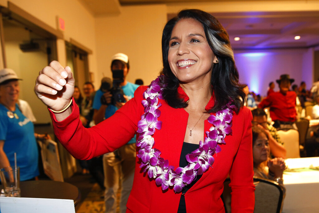 Westlake Legal Group AP19011858449452 Gabbard says US undermining North Korea peace bid with Venezuela, Iran policies Samuel Chamberlain fox-news/world/conflicts/north-korea fox-news/topic/fox-news-flash fox-news/politics/elections/democrats fox-news/politics/2020-presidential-election fox-news/person/tulsi-gabbard fox news fnc/politics fnc article 1985fa85-fe5c-5e81-87e7-3fb2f53022c7