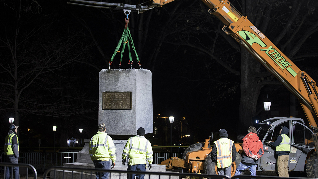 UNC chancellor pushed out hours after Confederate 'Silent Sam' base removed