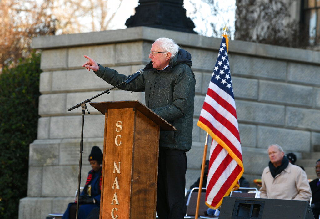 Bernie Sanders flatly calls Trump 'racist' in fiery address