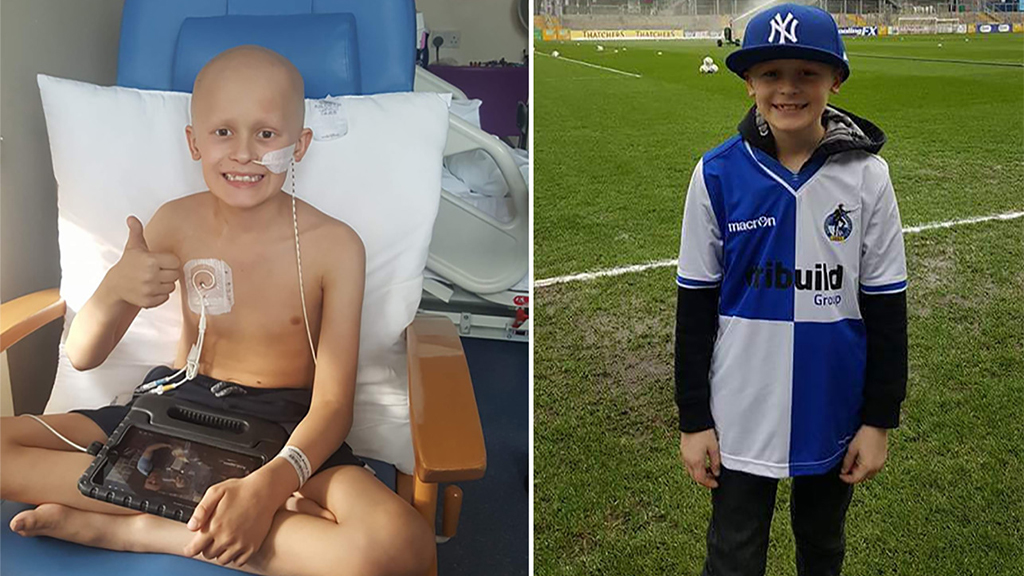 Boy with terminal cancer, 9, stayed alive to name, meet baby sister