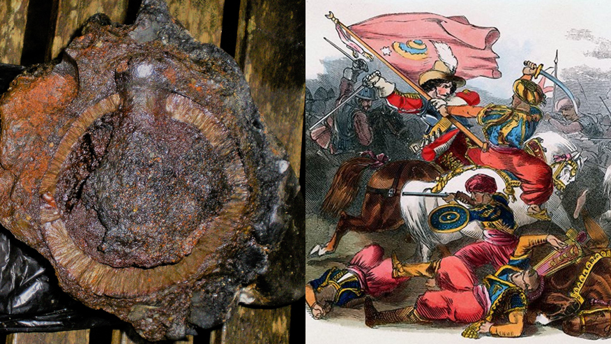 'Pirate ship' hand grenade discovered near 17th-century wreck site