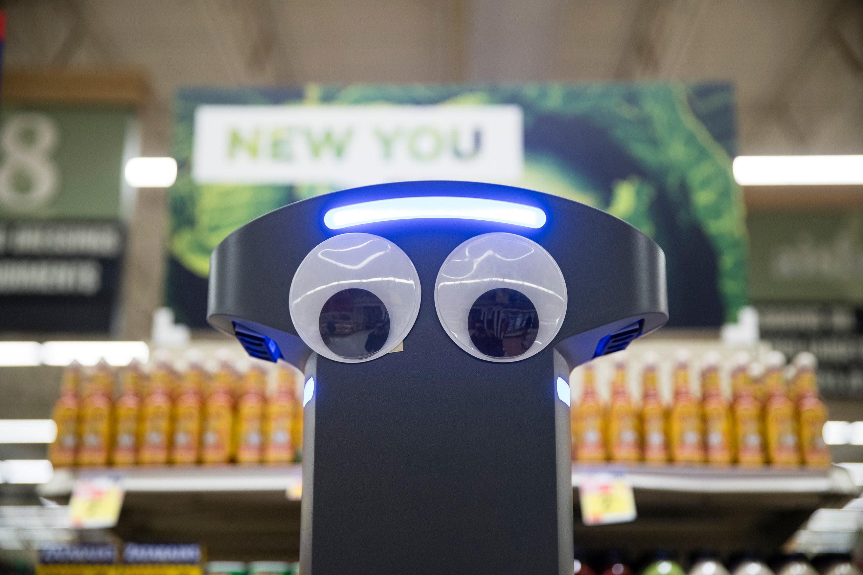 Grocery Store Robot Patrols Aisles, Spots Spills