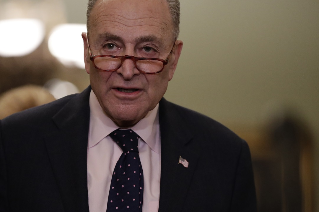 Westlake Legal Group AP19029736974874 Trump swipes at Schumer after top Dem claimed president won't 'follow through' on tariffs Frank Miles fox-news/world/trade fox-news/us/immigration/mexico fox-news/politics/senate/democrats fox-news/person/donald-trump fox-news/person/chuck-schumer fox news fnc/politics fnc article 49e0537e-0421-51c4-baf7-014e60cb34e0 /FOX NEWS/WORLD/GLOBAL ECONOMY/Trade