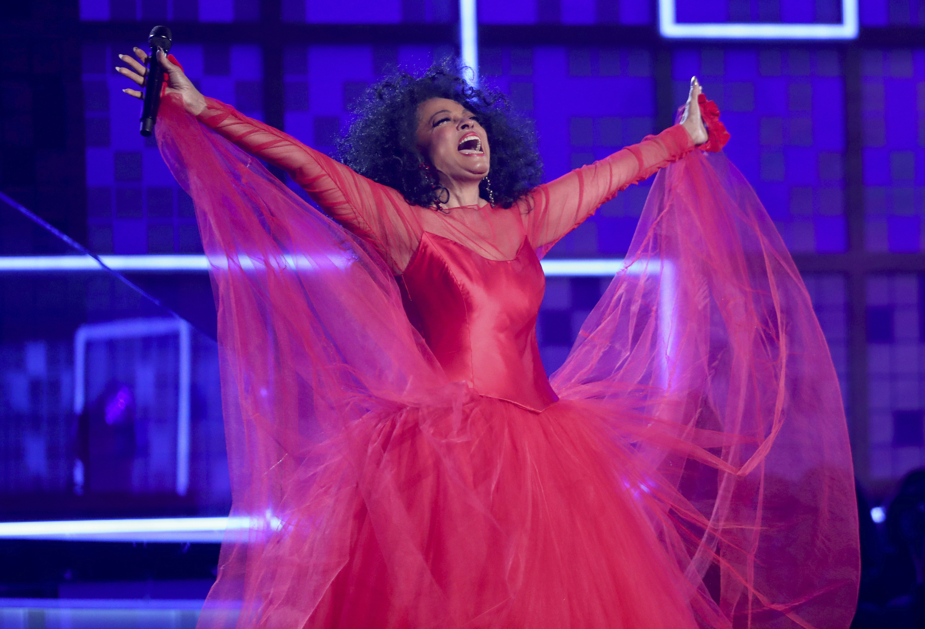 Diana Ross gives inspirational performance at the Grammys to celebrate her 75th birthday