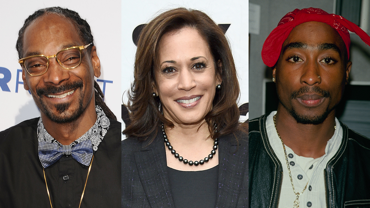 Kamala Harris says she listened to Snoop Dogg, Tupac while smoking weed in college years before they made music