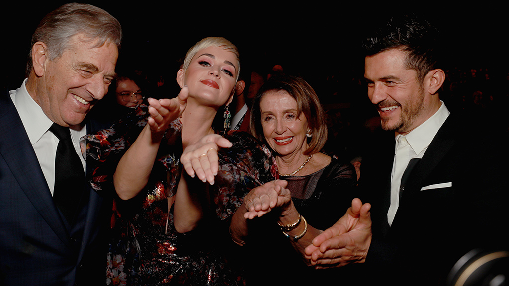 Nancy Pelosi recreates 'sarcastic' clap with Katy Perry and Orlando Bloom at LA gala thumbnail