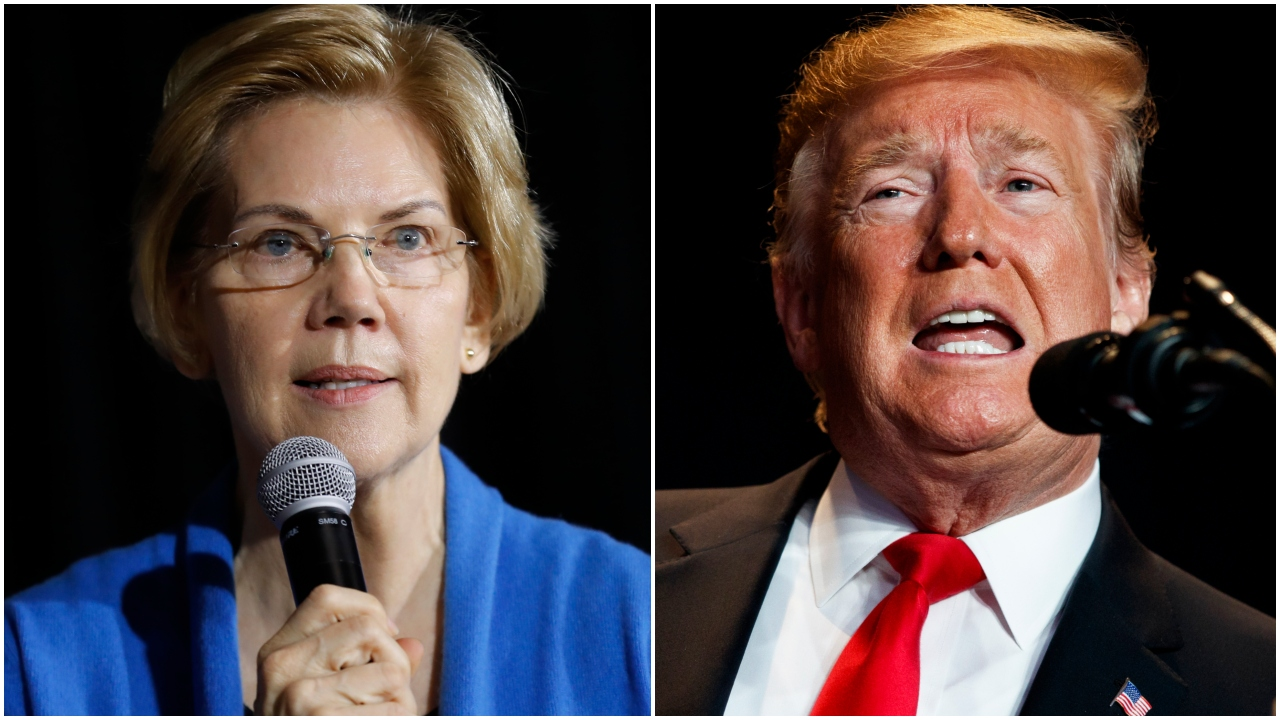 Warren says Trump 'may not even be a free person' in 2020