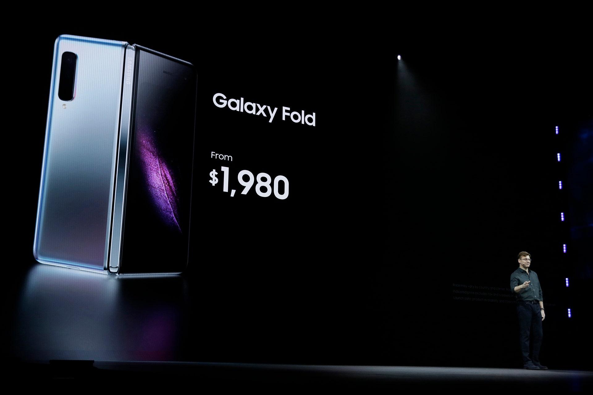 Samsung Galaxy Fold smartphone starts at $2G's