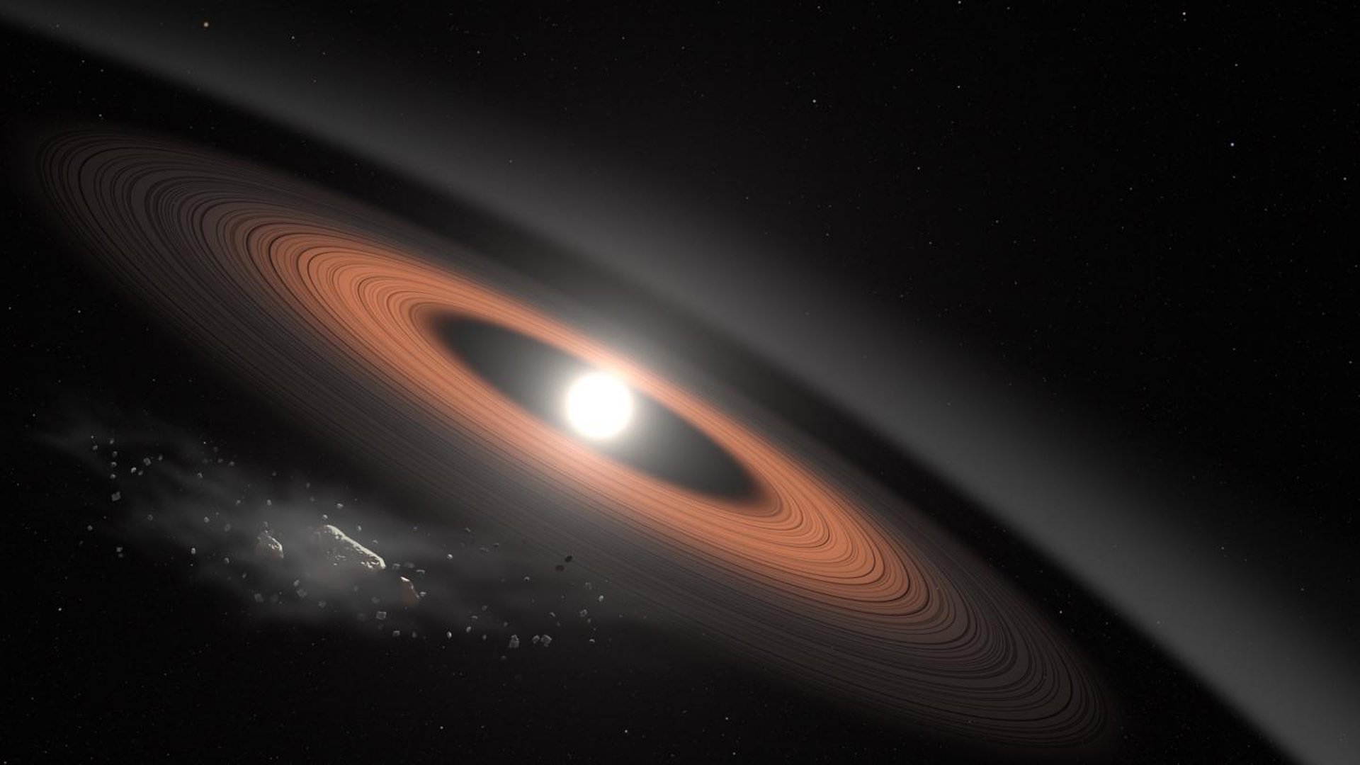 Searching for Planet Nine, scientist finds ancient star with mysterious rings