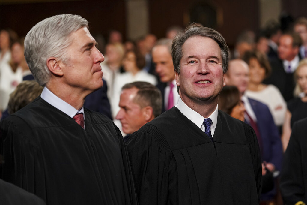 Trump picks Gorsuch, Kavanaugh take opposite sides on 2 of 3 Supreme Court rulings Tuesday thumbnail
