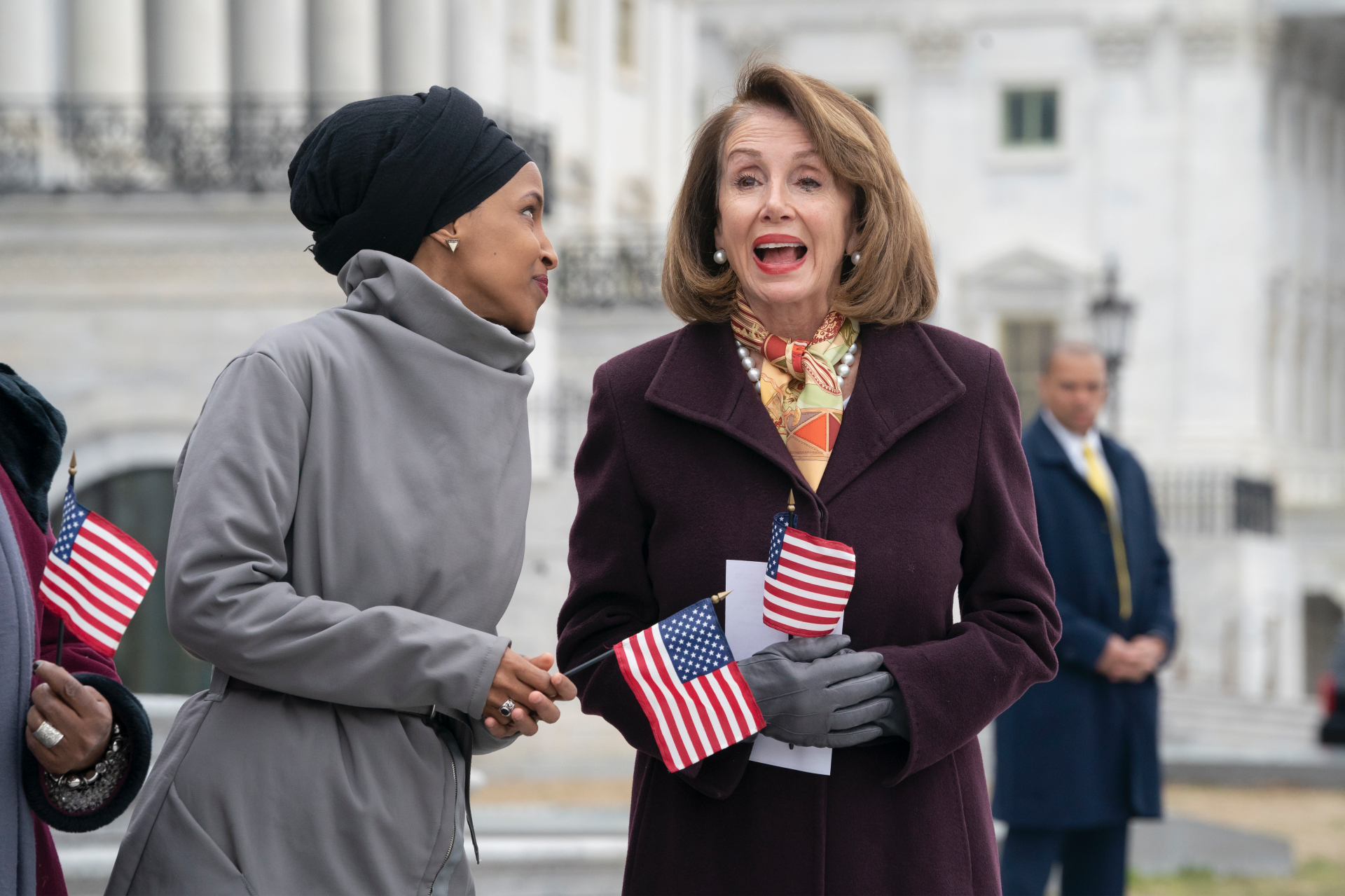 photo image How Trump is using furor over Ilhan Omar to bash Pelosi