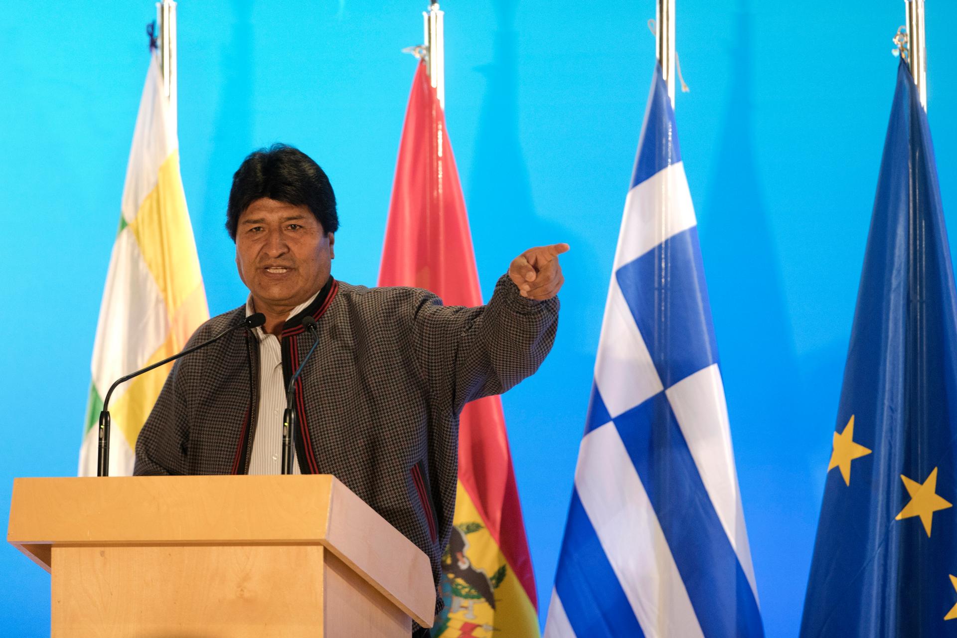 Bolivia's Morales, in Greece, backs Venezuela's Maduro