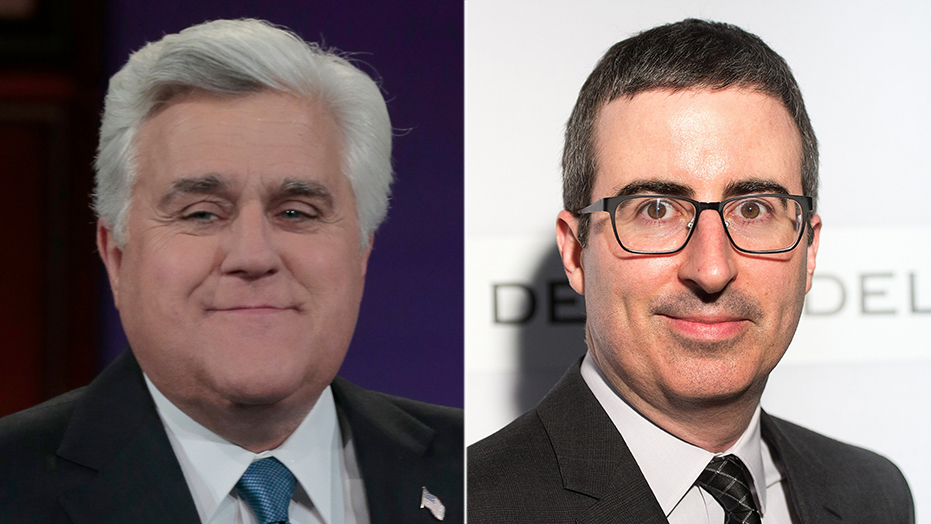 John Oliver slams Jay Leno's call for late-night 'civility', airs old 'Tonight Show' Monica Lewinsky jokes
