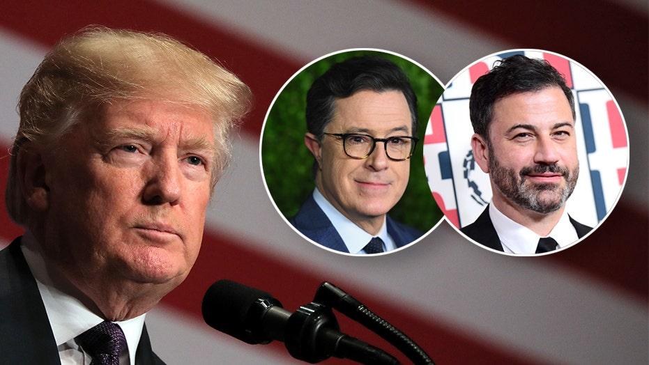 Donald Trump slams 'untalented' late-night hosts after Kimmel, Colbert mock him again