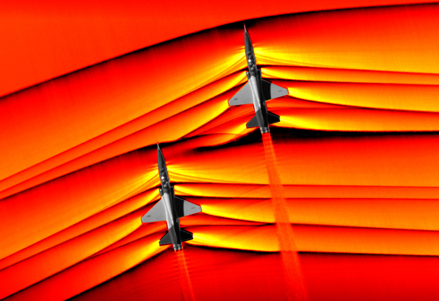 NASA captures first-ever images of intersecting shock waves from two supersonic jets