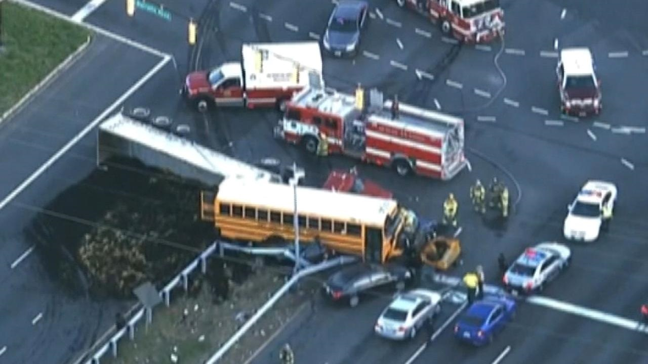 Westlake Legal Group 694940094001_6024689706001_6024689440001-vs School bus, tractor-trailer crash leaves at least 1 dead, several injured Kathleen Joyce fox-news/us/us-regions/northeast/maryland fox-news/us/crime/police-and-law-enforcement fox news fnc/us fnc article 0709f2c9-f9fc-5a1b-ab61-369a5492749c