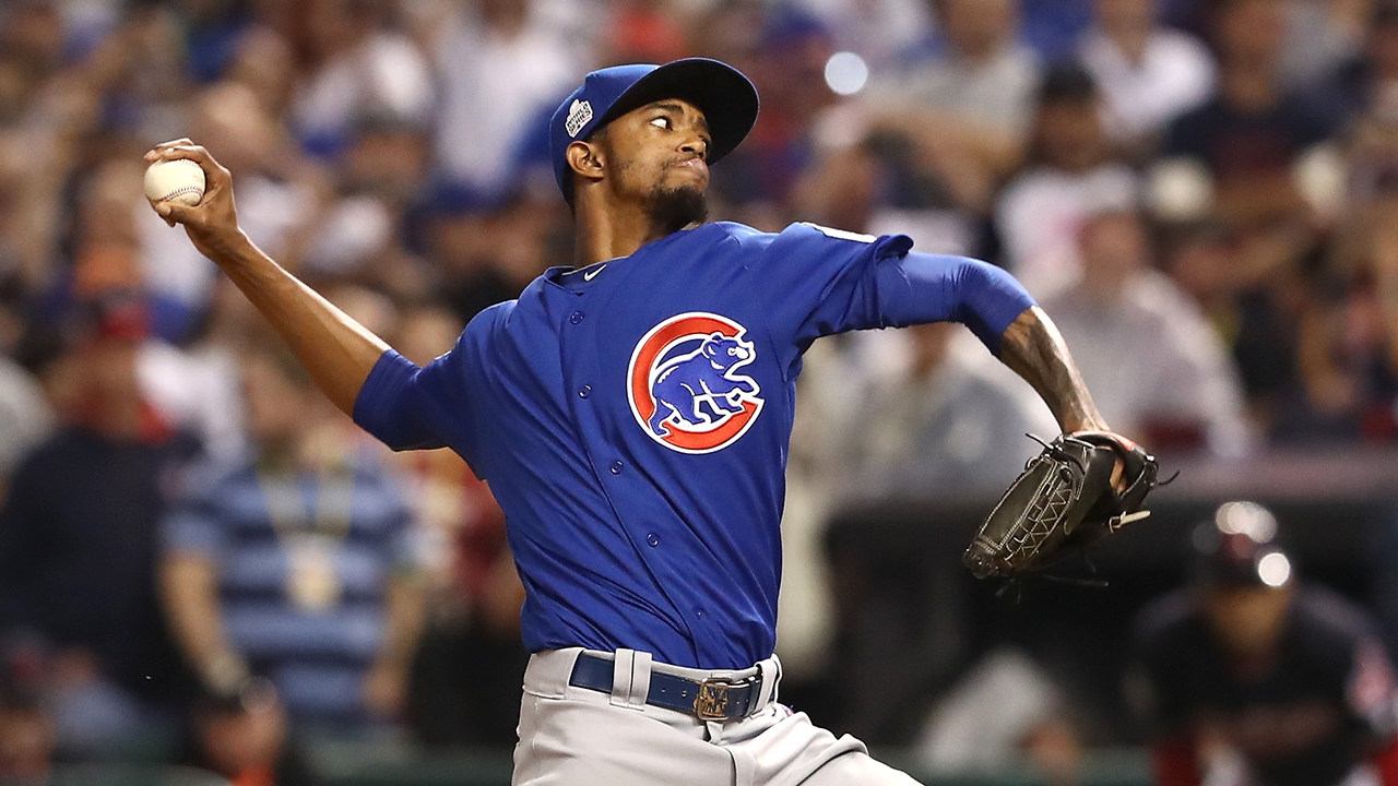 Westlake Legal Group Carl-Edwards-Jr-Getty-2 Chicago Cubs' Carl Edwards Jr. receives racist social media message sparking MLB probe, reports say Ryan Gaydos fox-news/sports/mlb/chicago-cubs fox-news/sports/mlb fox news fnc/sports fnc article 9bc914cd-880d-541a-bfb4-7a4e60b13b63