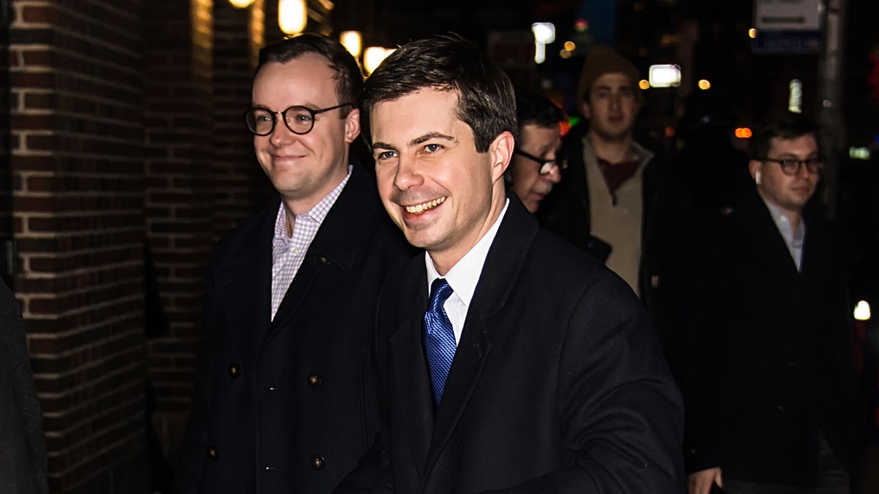 Westlake Legal Group Chasten-Buttigieg-1 Tale of two Dems: Mayor Pete gets cover status, Biden gets whacked Howard Kurtz fox-news/politics/elections/democrats fox-news/politics/2020-presidential-election fox-news/person/pete-buttigieg fox-news/person/joe-biden fox-news/columns/media-buzz fox news fnc/politics fnc article 7a31422b-02c4-5c38-8dac-ed72537a583a