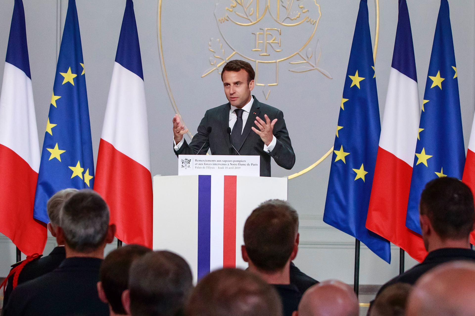 Macron meets officials, eyes Notre Dame for legacy-building