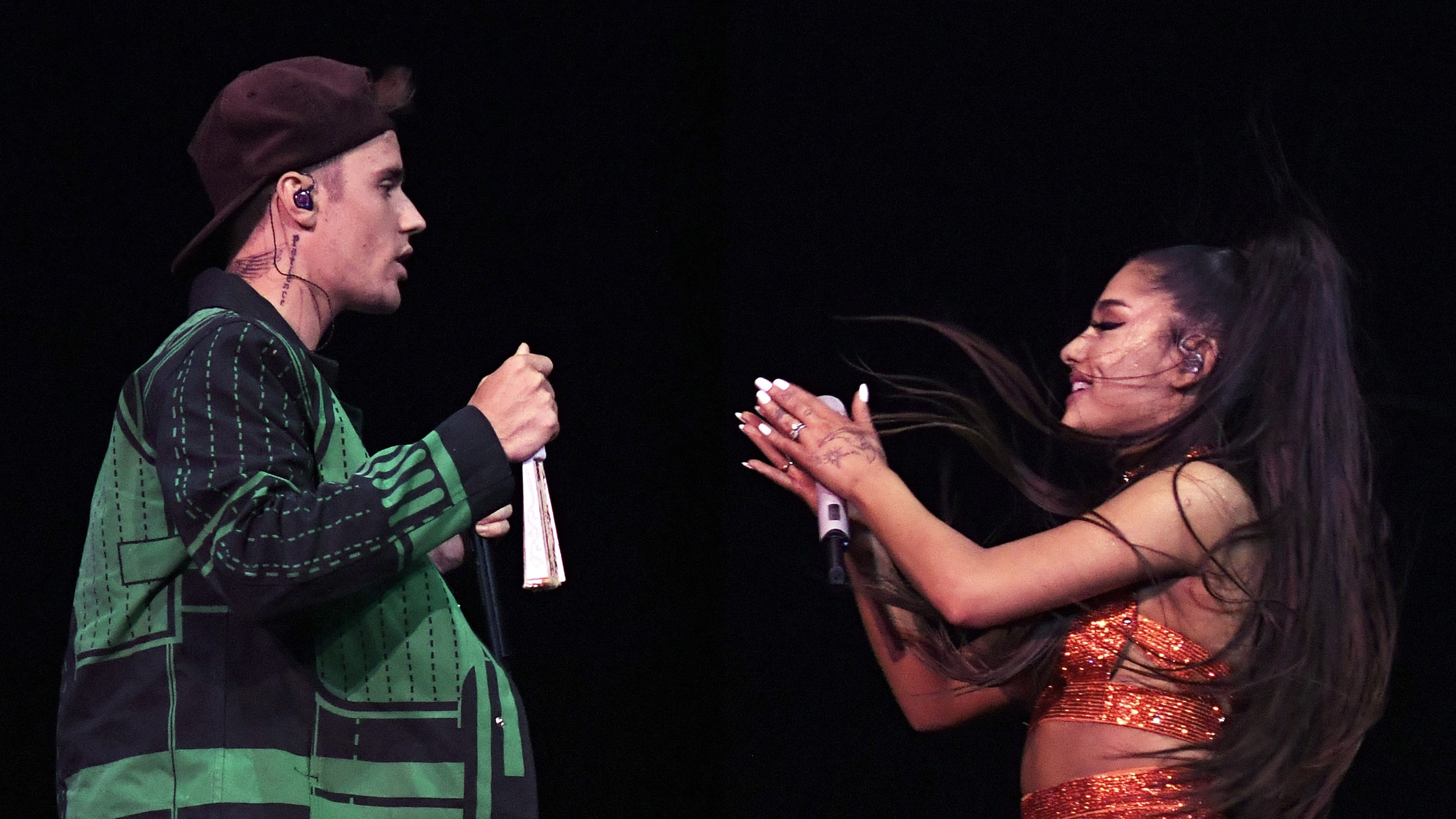 Justin Bieber joins Ariana Grande at Coachella for his first public performance in 2 years