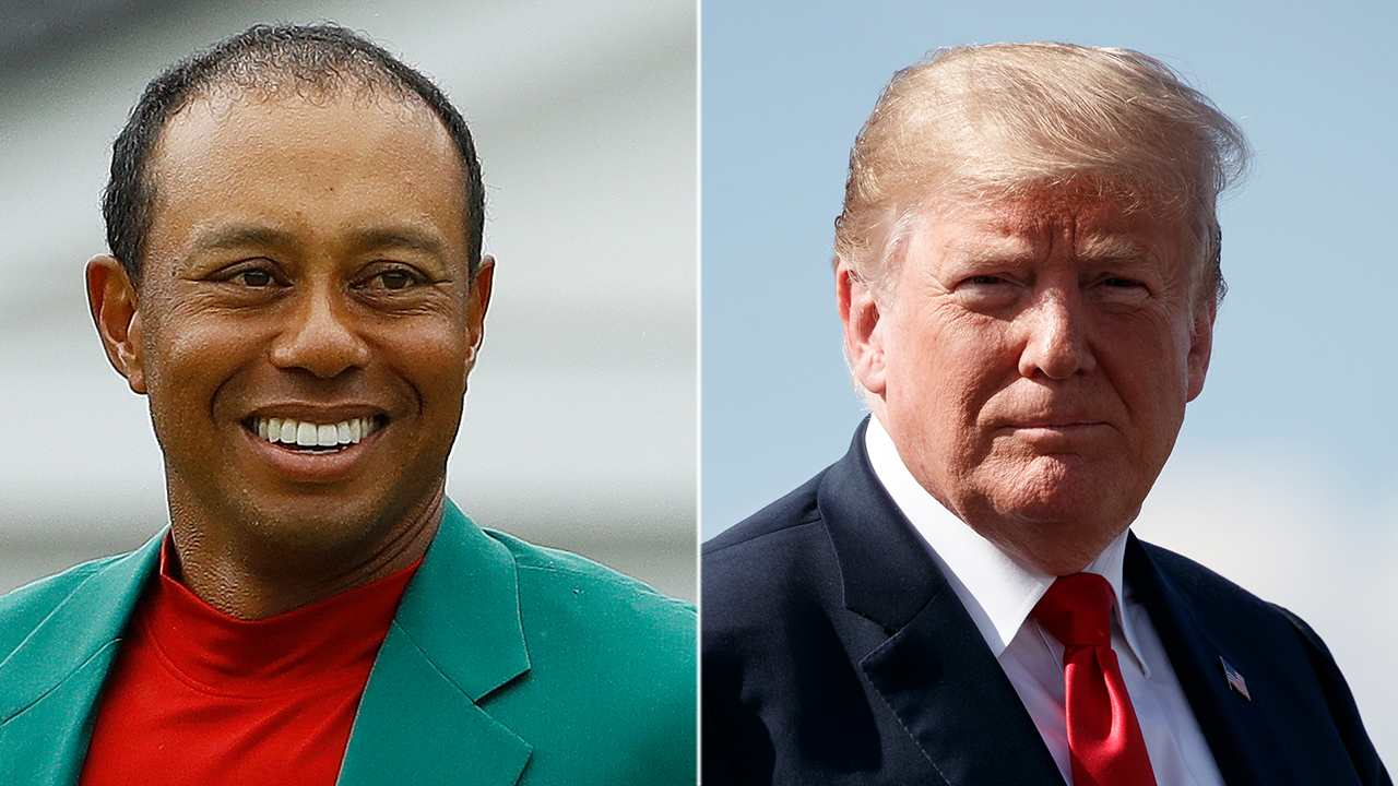 Westlake Legal Group Trump-Woods-AP Trump to give Tiger Woods Presidential Medal of Freedom after Masters 2019 win Liam Quinn fox-news/politics fox-news/person/tiger-woods fox-news/person/donald-trump fox news fnc/sports fnc article 1f8c541f-5c91-5aa4-8aba-812f9c4c988a