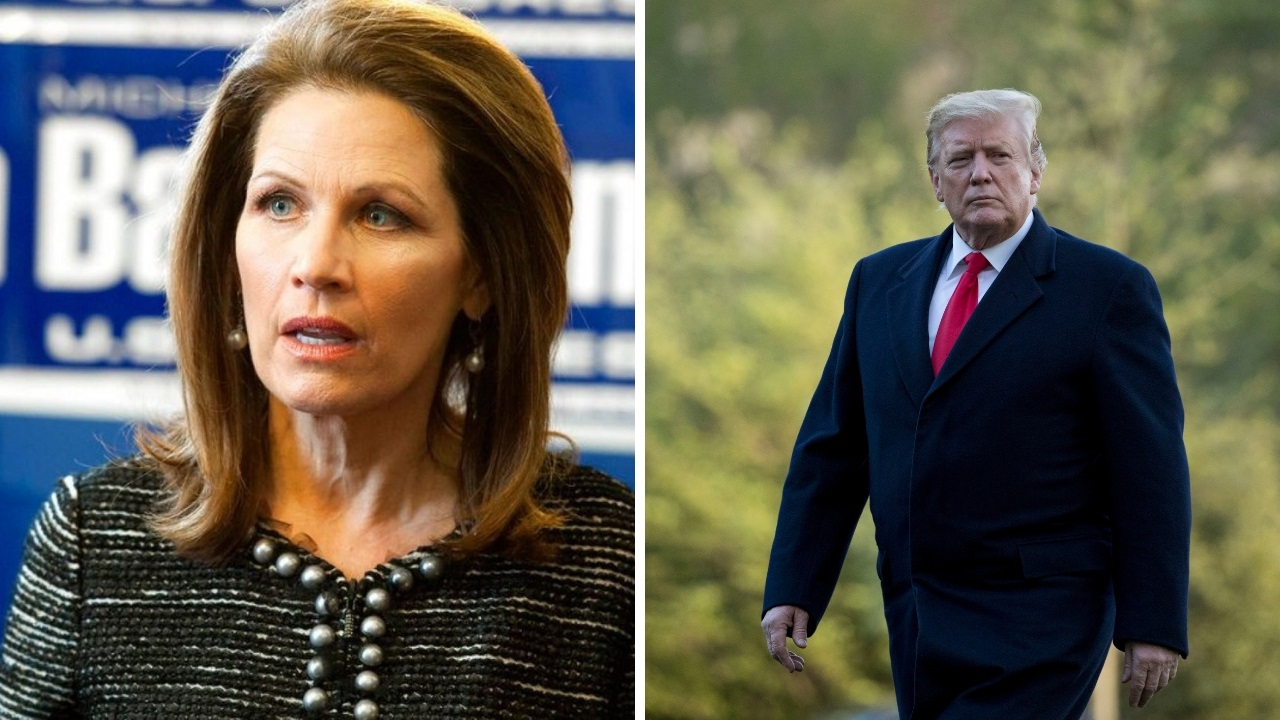 Westlake Legal Group Trump-and-Michele-split Ex-House Rep. Michele Bachmann exalts Trump: We will 'never see a more godly, biblical president' Kathleen Joyce fox-news/politics/house-of-representatives fox-news/person/donald-trump fox news fnc/politics fnc fc832aa3-e649-5992-8f29-e03c6084e97b article