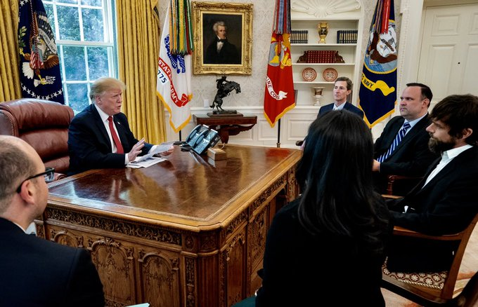 Trump holds meeting with Twitter CEO Jack Dorsey at the White House