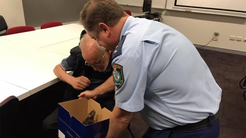 Cops reunite homeless Australian man with his pet rat
