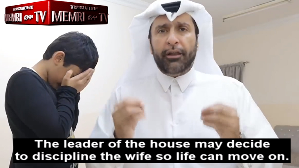 Qatari academic seen in shocking video explaining how Muslim men should beat their wives