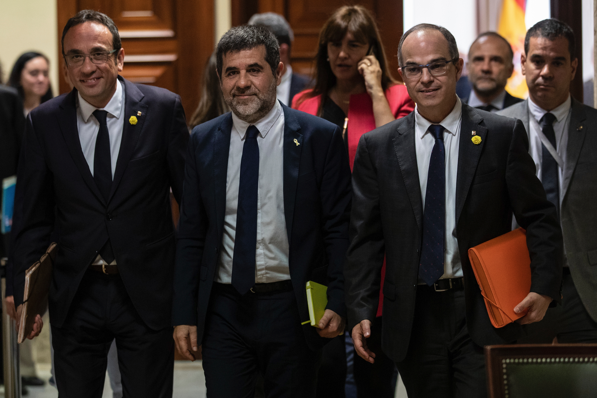 Jailed deputies allowed to attend Spanish Parliament session