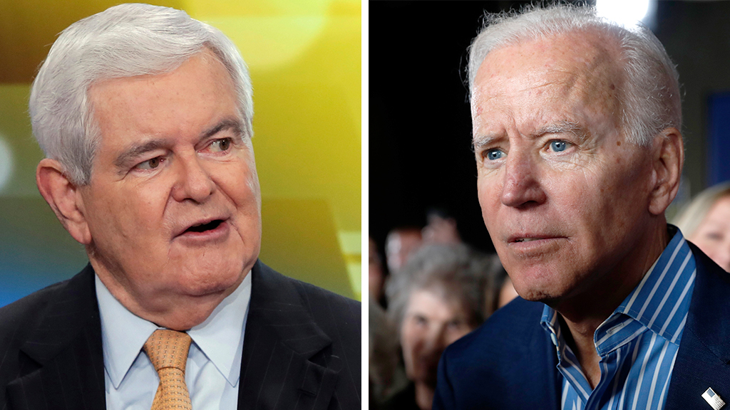 Joe Biden's 2020 run will attract voters who value 'emotions' over 'facts,' Newt Gingrich says
