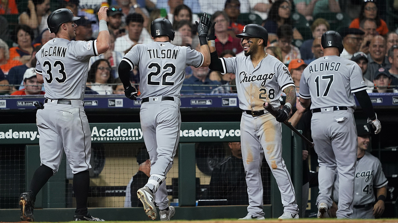 Westlake Legal Group MLB-White-Sox-celebrate Chicago White Sox turn triple play, hit grand slam in same game Ryan Gaydos fox-news/sports/mlb/chicago-white-sox fox-news/sports/mlb fox news fnc/sports fnc article 9d46fcb8-ff3e-5732-b3c0-dec00fdc2fc2