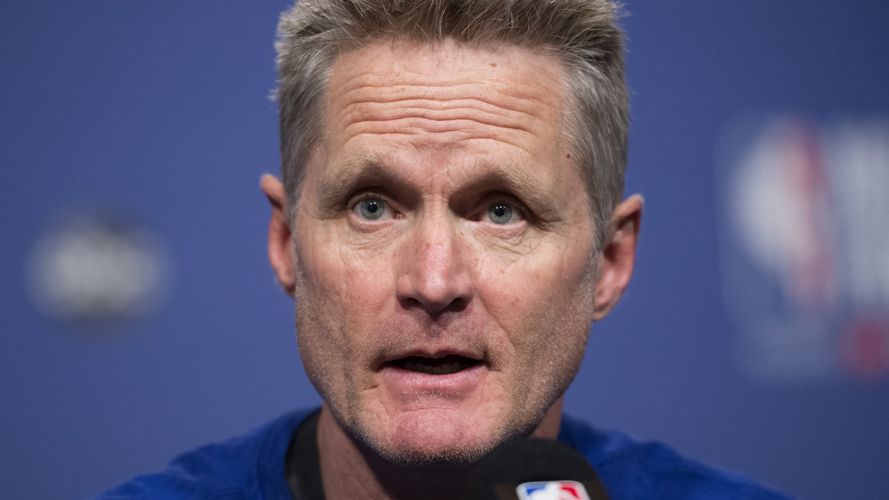 Westlake Legal Group NBA-Steve-Kerr2 Golden State Warriors coach Steve Kerr receives high honor from former player Ryan Gaydos fox-news/sports/nba/golden-state-warriors fox-news/sports/nba fox news fnc/sports fnc article 8398ec4f-6a79-538c-aa46-a0f54956ffcc