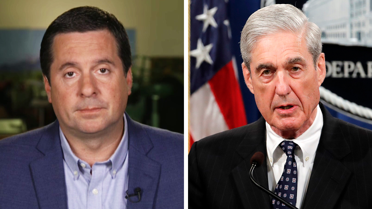 Westlake Legal Group Nunes-Mueller_FOX-AP Mueller statement meant to 'light the fuse' for impeachment, Devin Nunes says fox-news/topic/fox-news-flash fox-news/person/robert-mueller fox-news/person/donald-trump fox-news/person/devin-nunes fox-news/news-events/russia-investigation fox-news/entertainment/media fox news fnc/politics fnc Charles Creitz article 135c144e-0601-5802-8b94-438483c19b64