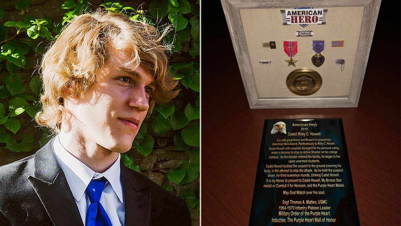 Riley Howell, 'hero' UNCC student who died after tackling gunman, earns Purple Heart, Bronze Star thumbnail