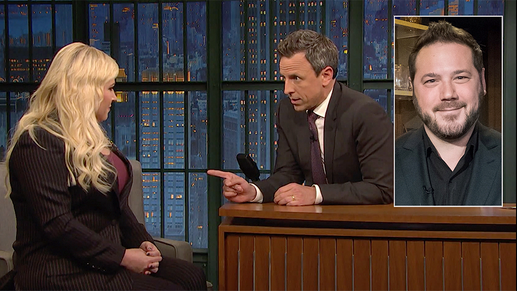 Westlake Legal Group Seth-Myers-Ben-Domench-Meghan-McClain-NBC-Getty Meghan McCain's husband blasts late-night host Seth Meyers after contentious interview Sam Dorman fox-news/person/meghan-mccain fox-news/person/ilhan-omar fox-news/entertainment/media fox-news/entertainment fox news fnc/entertainment fnc f5f5443b-cd22-5bf5-be13-77515ad864b2 article