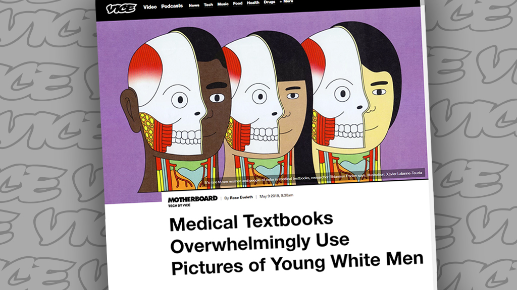Vice story on 'white, male, slim, and young' body bias in medical textbooks mocked: 'Dumbest woke criticism I have ever seen'