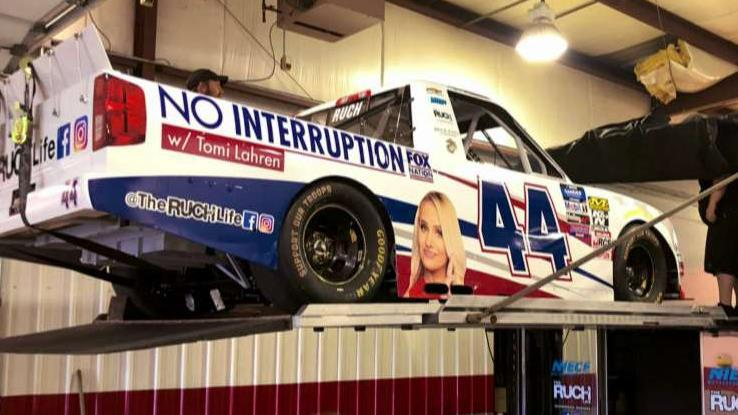 Tomi Lahren and Fox Nation featured on truck in NASCAR race