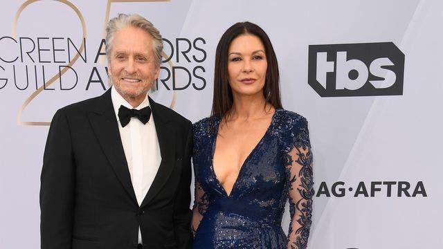 Michael Douglas and Catherine Zeta-Jones celebrate exactly 25-year age difference