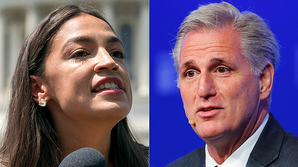 Westlake Legal Group AOC-Kevin-McCarthy-AP-Reuters House GOP leader sides with AOC on pay hike, says Congress at risk of being only for millionaires Lukas Mikelionis fox-news/politics/house-of-representatives fox-news/person/kevin-mccarthy fox-news/person/alexandria-ocasio-cortez fox news fnc/politics fnc article 03db4fce-cd9e-56bf-a4e9-636de96c4d63