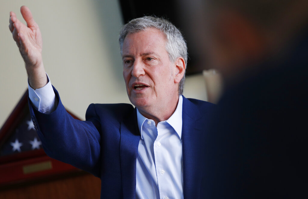 Westlake Legal Group AP19156031750882 De Blasio's entourage keeps plane passengers waiting so he can rush to 'View' appearance Vandana Rambaran fox-news/travel/vacation-destinations/new-york-city fox-news/politics/elections/democrats fox-news/politics/2020-presidential-election fox-news/entertainment/the-view fox news fnc/politics fnc article 4b158f2d-2d76-52ab-915f-7c47523d734e