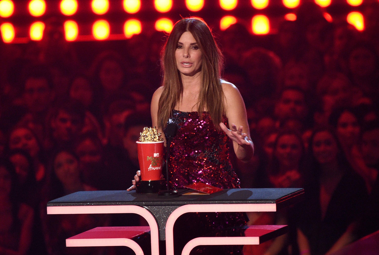 Sandra Bullock reveals she made 'Bird Box' for her kids during MTV Movie & TV Awards acceptance speech