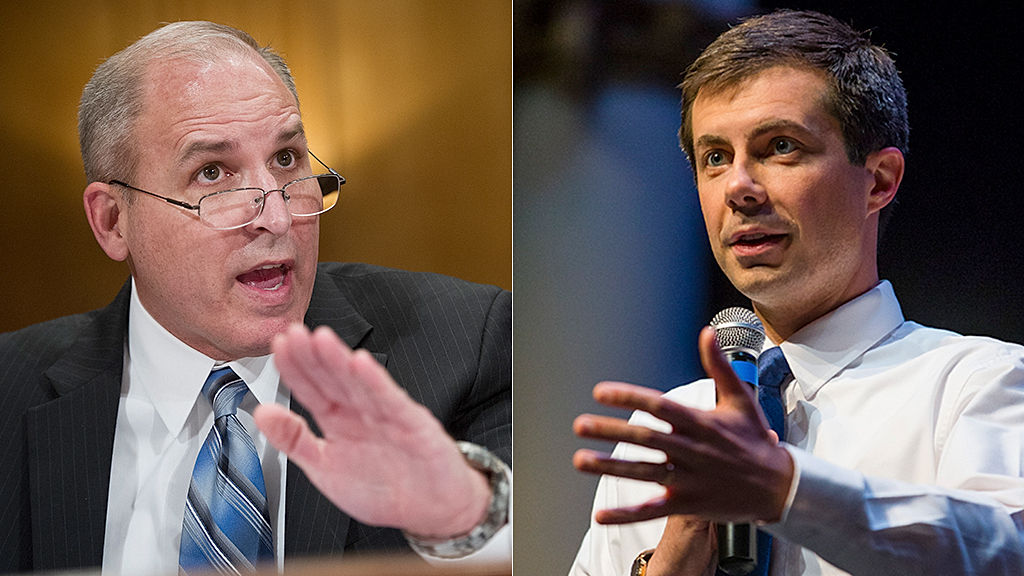 Westlake Legal Group Mark-Morgan-Pete-Buttigieg-AP Acting ICE director slams Pete Buttigieg's 'misinformed' criticism: 'He is vilifying the wrong entity' fox-news/us/immigration fox-news/topic/fox-news-flash fox-news/shows/fox-friends fox-news/politics/executive/homeland-security fox-news/person/pete-buttigieg fox-news/entertainment/media fox news fnc/politics fnc article Anna Hopkins 76b254fa-da60-5add-951a-f78d9ef7d034