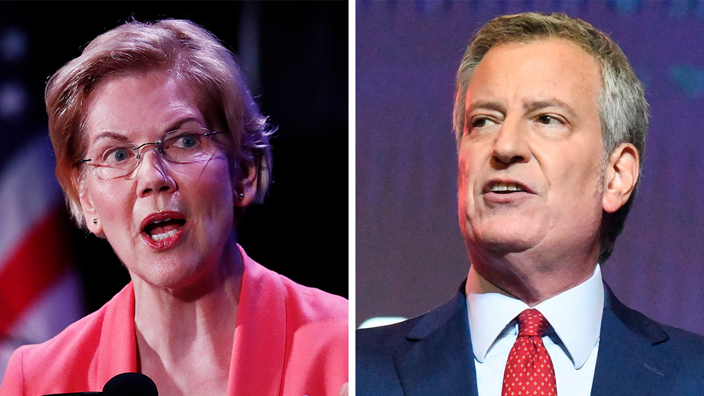Westlake Legal Group Warren-De-Blasio_AP Only Warren, de Blasio willing to eliminate their own private health care, as Dems put on the spot during debate Nick Givas fox-news/politics/senate/health-care fox-news/politics/elections/democrats fox-news/person/elizabeth-warren fox news fnc/politics fnc article 44b6cbc9-2ee1-52e9-8aef-d81ac9dfebb2