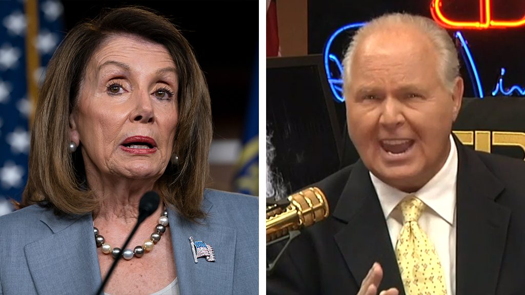 Westlake Legal Group pelosi-limbaugh-AP-FOX Rush Limbaugh: Pelosi frustrated with the ignorance of her own party on impeachment Victor Garcia fox-news/person/nancy-pelosi fox-news/person/donald-trump fox-news/entertainment/media fox news fnc/politics fnc fe6b432f-f685-581d-bc3f-6f3d05ba0cbd article